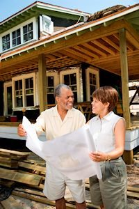 Image of Senior Couple planning aging in place remodeling
