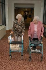 Senior women at assisted living, senior friends, age in place,