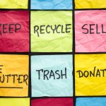 Declutter image on NWISeniors.com for Widow, recycle, sell, trash
